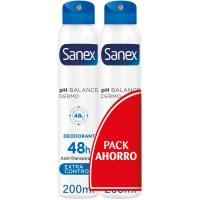Desodorante extracontrol SANEX, pack 2x200  ml