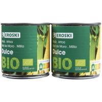 Maíz bio EROSKI, pack 2x140 g
