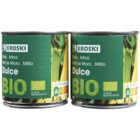Maíz bio EROSKI Eroski Bio/ECO, pack 2x140 g