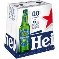 Cerveza 0,0% HEINEKEN, pack botellín 6x25 cl