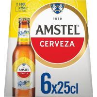 Cerveza AMSTEL Radler, pack botellín 6x25 cl