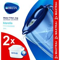 Jarra Marella azul-2 filtros BRITA, pack 1 unid.