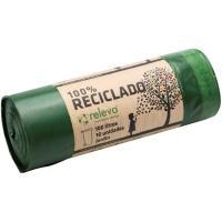 Bolsa de basura 100% reciclada 100 l. RELEVO, paquete 10 uds.