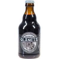 Cerveza artesana negra Milk Stout OLAÑETA, botellín 33 cl