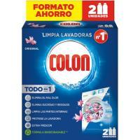Limpia lavadoras perfume original COLON, pack 2 uds.