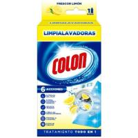 Limpia lavadoras perfume de limón COLON, caja 250 ml