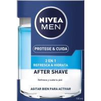 Loción after shave 2en1 NIVEA Men Protege&Cuida, frasco 100 ml