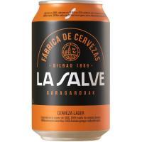 Cerveza Lager Auténtica LA SALVE, lata 33 cl