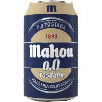Cerveza 0,0 tostada MAHOU, lata 33 cl