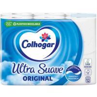 Papel higiénico original COLHOGAR, paquete 12 rollos