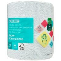 Papel de cocina absorbente EROSKI, paquete 1 rollo