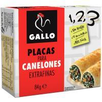 Placas para canelones extrafinas 1,2,3 GALLO, caja 84 g
