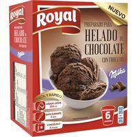 Preparado para helado de chocolate Milka ROYAL, caja 215 g