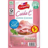 Jamón reducido en sal CAMPOFRÍO Cuidate-t +, bandeja 75 g