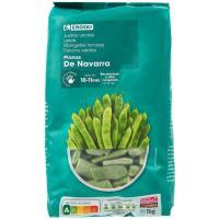 Judías verdes planas EROSKI, bolsa 1 kg