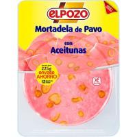 Mortadela de pavo con aceitunas ELPOZO, bandeja 225 g