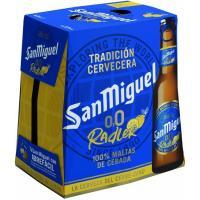 Cerveza 0,0 limón SAN MIGUEL, pack 6x25 cl