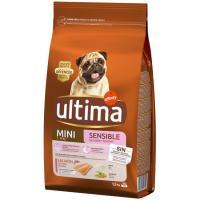 Alimento de salmón para perro mini sensitive ULTIMA, saco 1,5 kg