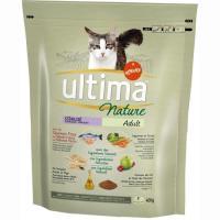 Alimento de salmón gato esterilizado ULTIMA Nature, saco 400 g