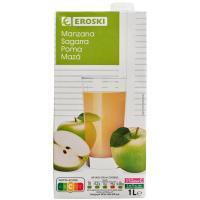 Bebida de manzana EROSKI, brik 1 litro