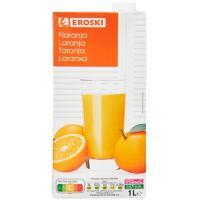 Bebida de naranja EROSKI, brik 1 litro