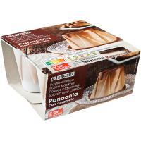 Pannacotta caramelo EROSKI, pack 4x90g