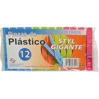 Pinzas de plástico gigantes TARRES, paquete 12 unid.