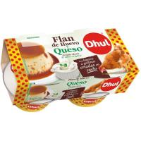 Flan de queso DHUL, pack 4x110 g