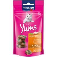 Cat Yums de pollo con hierba para gato VITAKRAFT, paquete 40 g