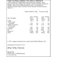 Bebedino pouch de fresa-plátano DANONINO, pack 4x70 g