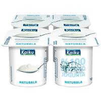 Yogur natural KAIKU, pack 4x125 g