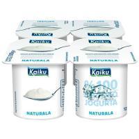 Yogur natural KAIKU, pack 4x125 g