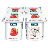Yogur de fresa KAIKU, pack 4x125 g
