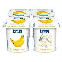 Yogur de plátano KAIKU, pack 4x125 g