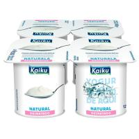 Yogur natural 0% KAIKU, pack 4x125 g