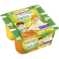 Petit de soja-plátano-albaricoque SOJASUN, pack 4x90 g