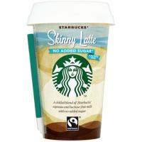 Café skinny latte sin lactosa STARBUCKS, vaso 220 ml