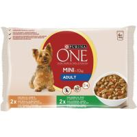 Alimento de pollo perro adulto PURINA One My Dog, pack 4x100 g