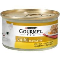 Tartallete de pollo-zanahoria para gato GOURMET Gold, lata 85 g