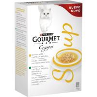 Crystal Soup de pollo para gato GOURMET, pack 4x40 g