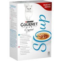 Crystal Soup de atún para gato GOURMET, pack 4x40 g
