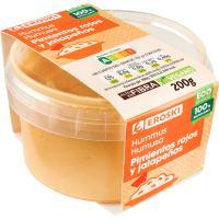 Hummus de pimiento rojo-jalapeño EROSKI, tarrina 200 g