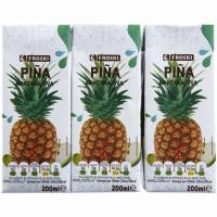 Zumo de piña EROSKI, pack 3x200 ml
