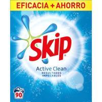 Detergente en polvo SKIP Active Clean. maleta 90 dosis
