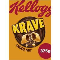 Cereales rellenos de choco-avellana KELLOGG`S Krave, caja 375 g