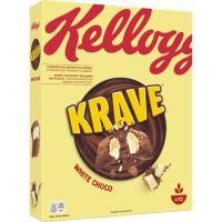 Cereales rellenos de choco blanco KELLOGG`S Krave, caja 375 g