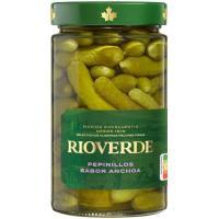 Pepinillos sabor anchoa RIOVERDE, frasco 225 g