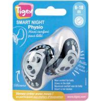 Chupete fisiológico silicona especial noche Smart +6meses TIGEX, 2uds
