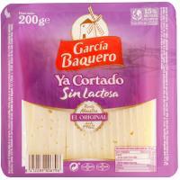 Queso cortado semicurado sin lactosa G. BAQUERO, bandeja 200 g