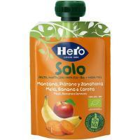 Sólo fruta eco de plátano-manzana-zanahoria HERO, doypack 100 g